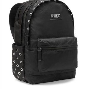 💕NEW VS PINK CAMPUS BACKPACK BLACK WITH CROMMETS